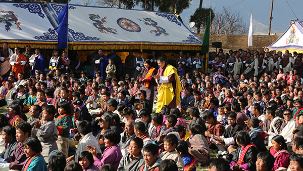 His Majesty grants audience in Trashigang