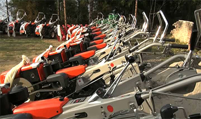 handing over powertillers-
