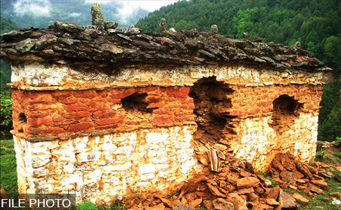 Maximum chorten vandalism took place in the East