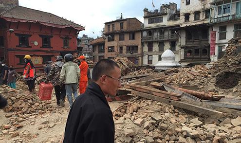 PM Visit Nepal- Quake Site-