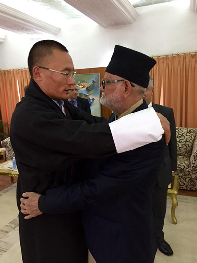 PM hands over Nu 62 M to Nepal