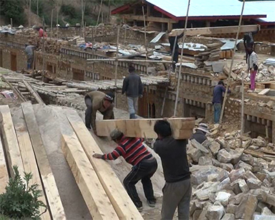 Lhakhang Karpo's reconstruction uninterrupted despite controversy-