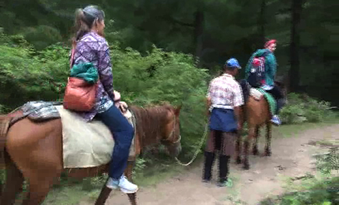 Horse riding tshogpa