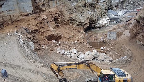 Five feared trapped under rubble from landslide at MHPA dam site
