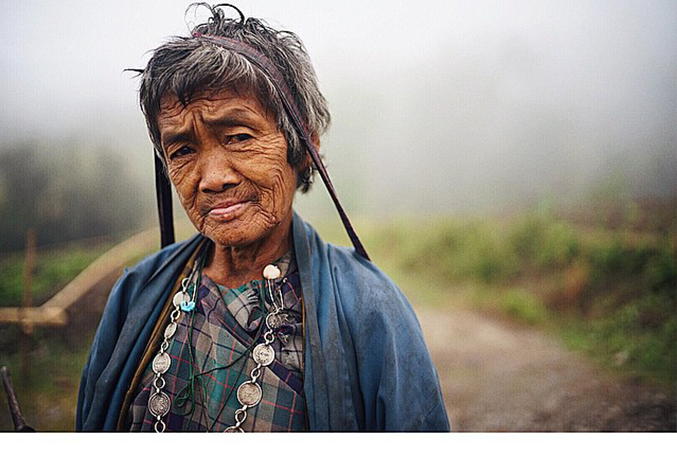 The old lady with coin necklace (Pic: Pawo Choyning Dorji)