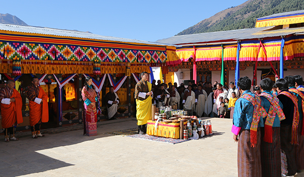 His Majesty graces gonpa's consecration in Haa-