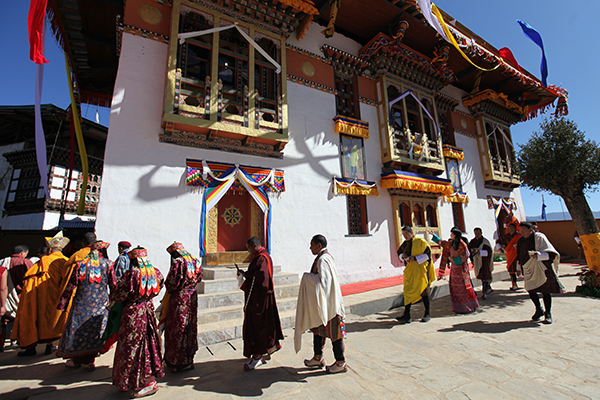His Majesty graces gonpa's consecration in Haa--