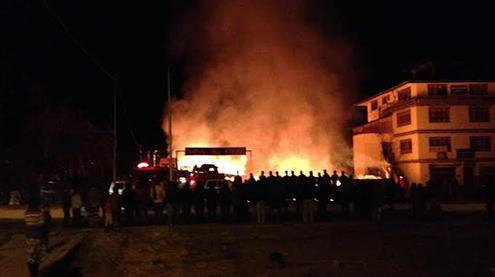 Fire destroys automobile workshop