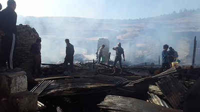 Houses gutted-Ura