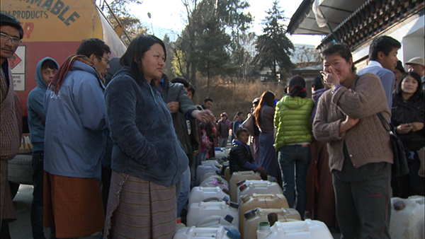 Thimphu residents swarm at BOD for a share of kerosene