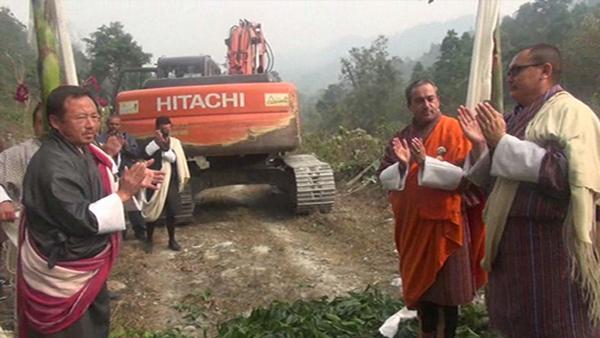 Construction of three farm roads begin in Samtse