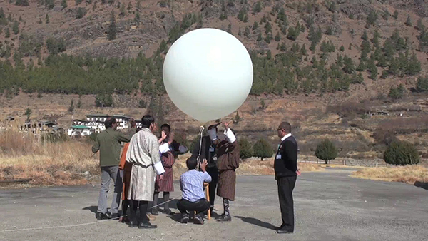 First weather balloon released