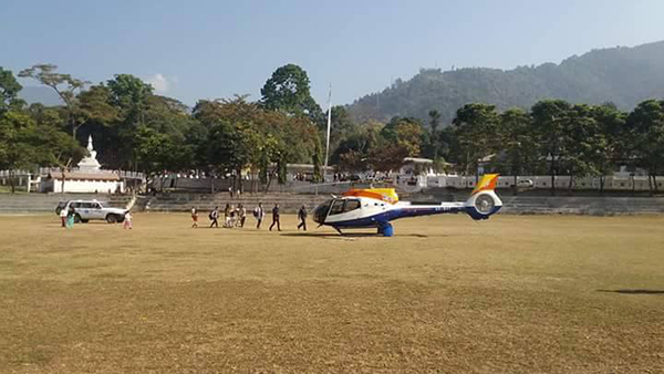 Infant, suffering from severe pneumonia, airlifted- SAMTSE