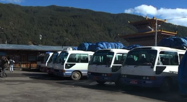 Passenger buses stranded in Bumthang-