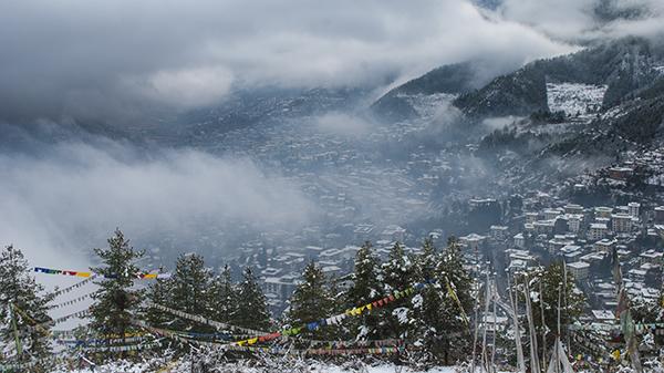 Snowfall-Thimphu2016