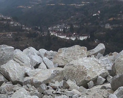 Blasting from road widening could damage Trongsa Dzong, locals fear--