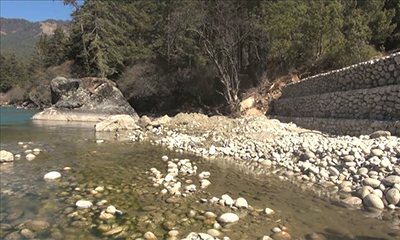 Chamkharchhu tributary diversion poses threat to centuries-old Lhakhang and nearby settlement--