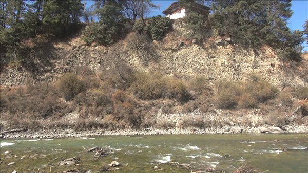 Chamkharchhu tributary diversion poses threat to centuries-old Lhakhang and nearby settlement