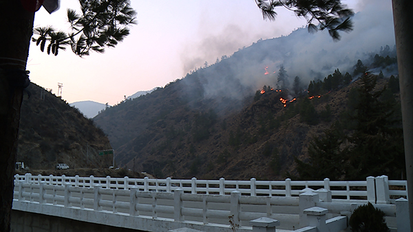 Fire in Chudzom continues to blaze