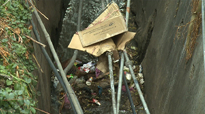 Drains, an alternate trashcan for Thimphu residents--