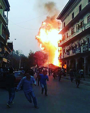 Fire in Samdrup Jongkhar razes a house affecting 11 people--