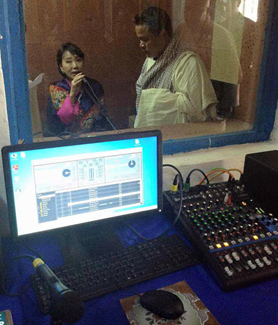 Queen Mother opens radio stations for Lhops Community---