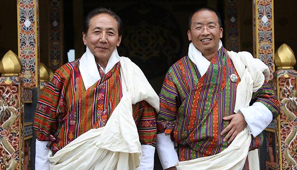 Ambassadors: Sonam Tobden Rabgye (L) and Tshewang C. Dorji (R)