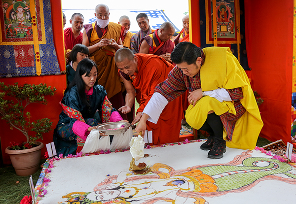 His Majesty graces ground-breaking ceremony