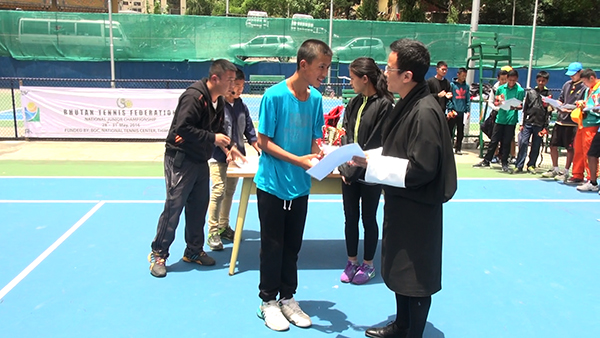 Tenzin Singye Dorji wins National Junior Tennis Championship