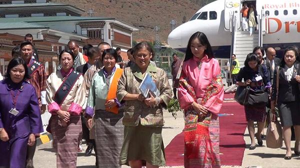 Thai Princess arrives in Bhutan
