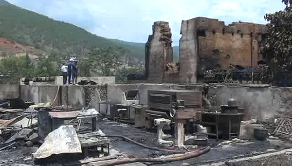 11 families loses everything to fire