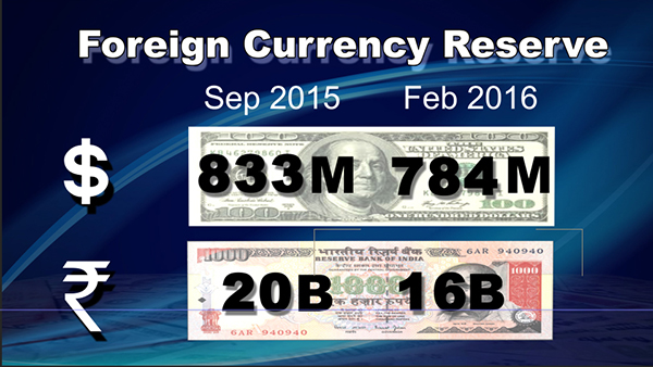 Bhutan's foreign currency reserve decreasing steadily