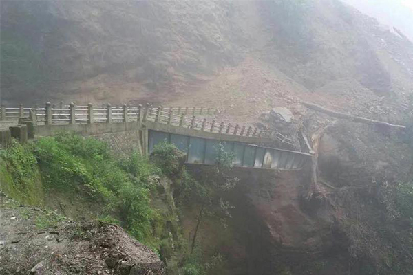 Dongkhalum Bridge along Trongsa-Zhemgang Highway collapses