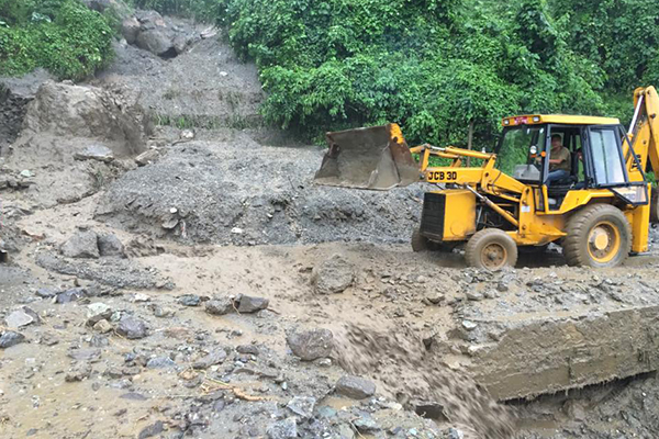 Works underway to clear debris at Pasakha
