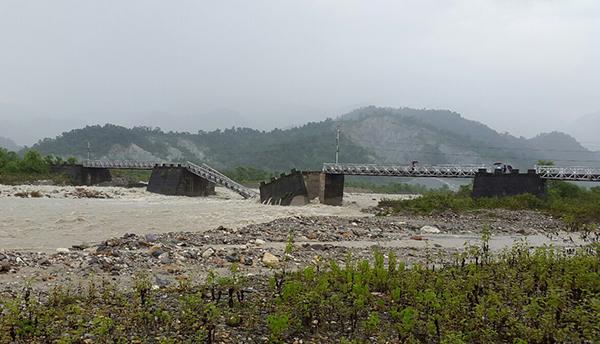 Bridge in Samtse collapses