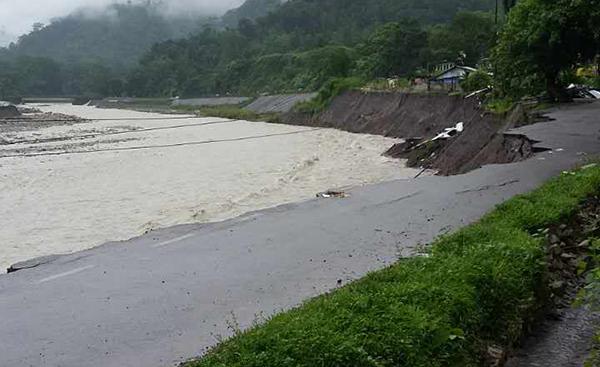 Sarpang flood washes away portion of Tsirang-Sarpang Highway