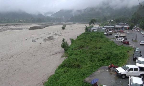 Sarpang town flooded