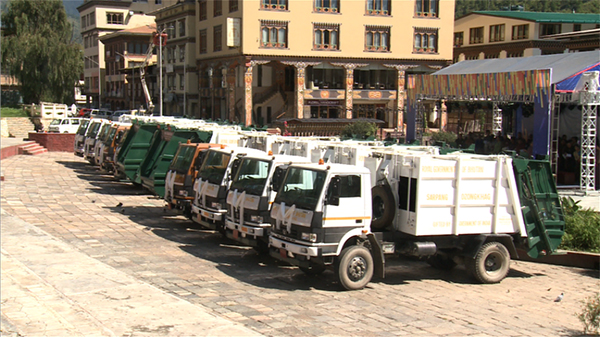 Thimphu Thromde receives 11 garbage trucks