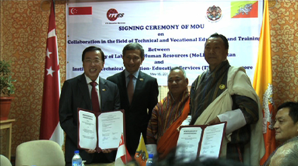 Bhutan And Singapore Signed A Memorandum Of Understanding Mou On Collaboration In The Field Technical Vocational Education Training Tvet