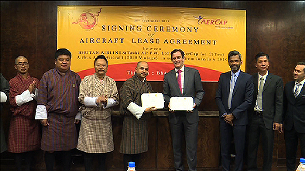 Bhutan Airlines Signs Lease Agreement With Aercap Bbs Bbs