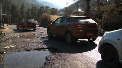 Jerking Alongside Unwanted Damage To The Vehicles The Stretch Is Dominated With Deep Potholes And According To Nearby Residents It Appeared Due To